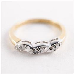 Estate Ladies 10kt Gold Diamond Band. Size 6Â