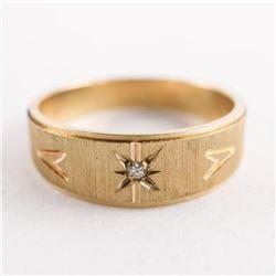 Estate Gents 10kt Gold Band Ring Size 10.5 4.87grÂ