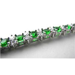 925 Silver Bracelet Emerald Green Swarovski Elemen