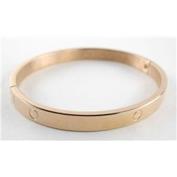 18kt Gold Plated over Stainless Steel Bangle, Nail