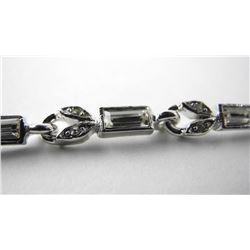 925 Silver Fancy Bracelet Set with Baguettes Swaro