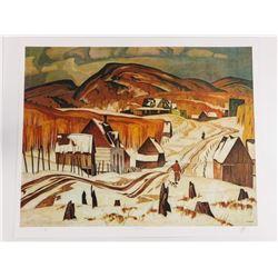 A.J. Casson (1898-1992) LE Litho 'Early Snow' 24x2