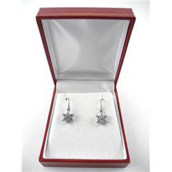 925 Silver Cluster Earrings Swarovski Elements