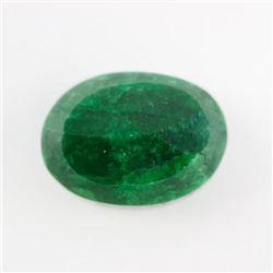 Loose Gemstone 9.80ct Oval Cut Emerald TRRV: $3920