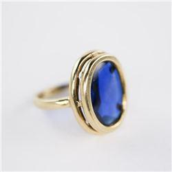 Estate Ladies 10kt Gold Ring Size 6.5 Bezel Set Ov