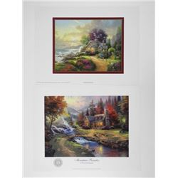 Set (2) Thomas Kinkade Fine Art Print 'A New Day D