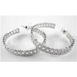 925 Silver Hoop Earrings Set with Swarovski Elemen