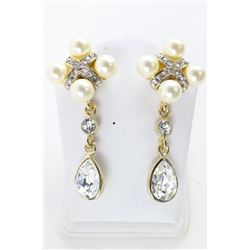 Ladies MMCrystal Atelier Earrings with White Gold