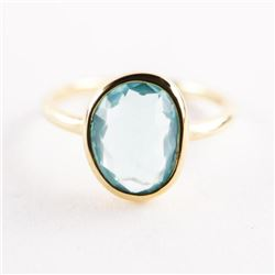 18kt Gold Plated Moonstone Ring Size 6