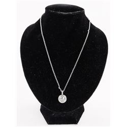 "Ladies MMcrystal Pendant and Chain 16"" long, with"