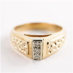 Estate Ladies 10kt Gold 3 Diamond Ring 4.46gr Size