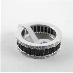 925 Silver Eternity Band Size 7 Set with Swarovski