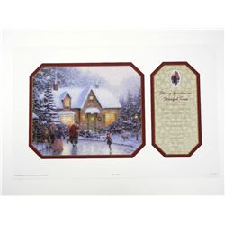 Thomas Kinkade (1958-2012) Fine Art Print 'Skaters