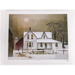 A.J. Casson (1898-1992) Litho 'Winter Sun' LE/95 P