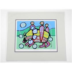 Norval Morrisseau (1931-2007) Serigraphic Matted '