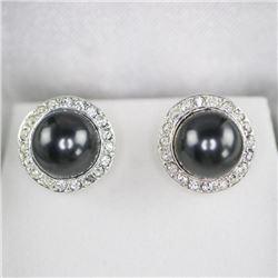 Swarovski Pearl Stud Earring 'Grey'