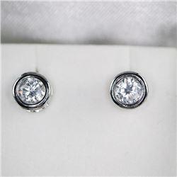 925 Silver Stud Earring Bezel Set Swarovski Elemen