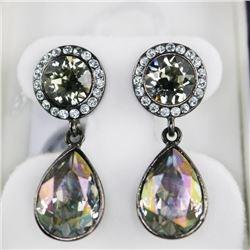 MM Crystal 2 Tier Drop Earring Pear Shape Swarovsk