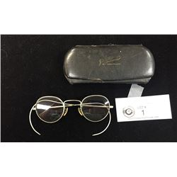 Antique Eyeglasses with Original Case From Naniamo BC