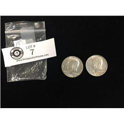 1967+1968 US Kennedy Clad Silver Half Dollars