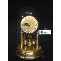 Very Nice Anniversary Clock with a Glass Cover. Made in Germany. Needs a Key
