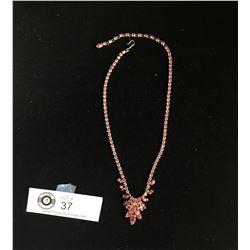 A Beautiful Pink/Rose Vintage Sherman Necklace