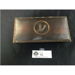 Hyde Park Metal Cigar /Cigarette Box. Nice Heavy Box. 8.5 x 4.5 x 1.5
