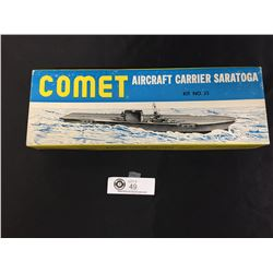 """1950's Wooden Model Kit. Comet Aircraft Carrier."""" Saratoga"""""""
