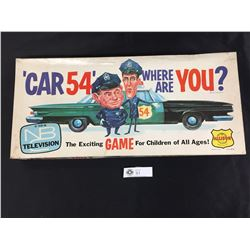 """1961 """" Car 54 Where are You?"""" Board Game. Hard to find. Complete"""