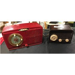 2 Vintage Radios.General Electric and a Blunder-Langue Very Nice Shelf Displays. 1940s-1950's