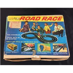 1960's Eldon Deluxe Road Rage 2x4 Track Complete with 1 Car and Extra Car Body