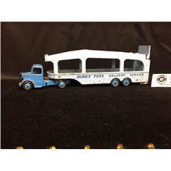 Dinkey # 982 Pullmare Car Transporter Delivery Sercie. Back Ramp is Broken