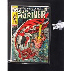 Prince Namar, The Sub-Mariner #19 November 1969 In Bag on a White Board