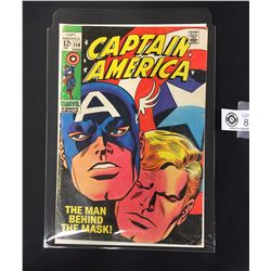 Marvel Captain America #114 The Man Behind The Mask. June 1969. On a White Board, in a Bag