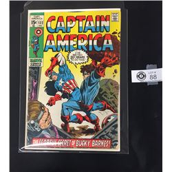 Marvel Captain America #132 The  Fearful Secret of Bucky Barns December 1970 On a White Board, in a