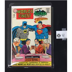 World's Finest #172 December 1967 Batman and Superman DC Comics. On a White Board, in a Bag