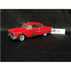 Precision Model From The Franklin Mint 1955 Cheverolet Bel-Air Fire Chief  1:24 Scale