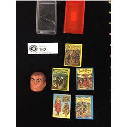 Vintage Spare Six Million Dollar Man Face, Plus Mini Book Series The 3 Bears