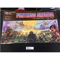 Fortress America Strategy Board Game 1987 Milton Bradley Gamemaster Series