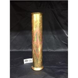 Very Nice Trench Art Vase.2.25 w x 10 H
