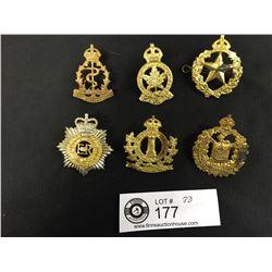 Lot of 6 Canadian Military Cap Badges WWII Era