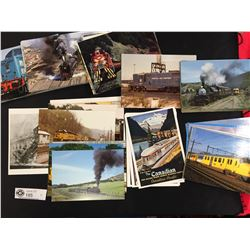 Lot of Unused Collectible Train Postcards