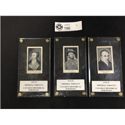 3 Imperial Tobacco Cards1913-1915 In Museum Cases