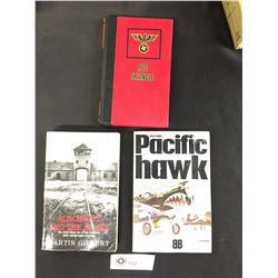 3 WWII Books Auschwitz and the Allies, Red Triangle and Pacific Hawk