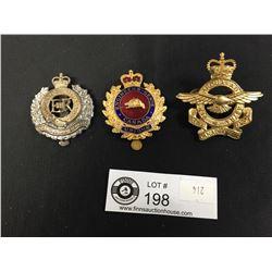 3 Canadian Military Cap Badges