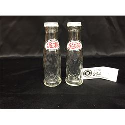 Vintage Pepsi Cola Salt and Pepper Shaker Bottles