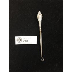 Chester Sterling Silver Button Hook
