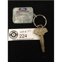 Vintage Ford Key Chain and Key