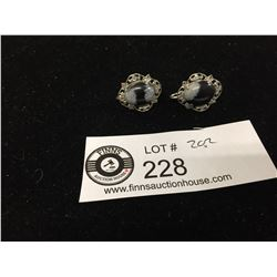 Nice Pair of Vintage Sterling Silver Earrings