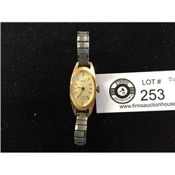 1970's Gold Plated Ladies Cardinal Wristwatch Good Working Order